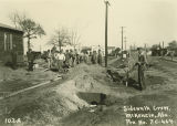 Construction of a sidewalk in McKenzie, Alabama.
