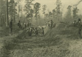 Construction of a drainage ditch in Clarke County, Alabama, designed to control the spread of...