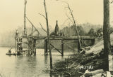 Construction of the Jackson Trace Bridge in Coosa County, Alabama.