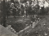 Riprapping and widening the drainage ditch running through Green Springs Park in Birmingham,...