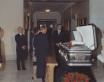Governor Albert and Martha Brewer viewing Lurleen Wallace's body lying in state at the Capitol in...