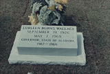 Tombstone for Lurleen Wallace in Greenwood Cemetery in Montgomery, Alabama.