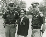Lurleen Wallace with two Alabama state troopers during her gubernatorial campaign.