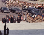 Pallbearers carrying Lurleen Wallace's casket up the steps to the Capitol in Montgomery, Alabama.