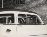 Albert Patterson's car shortly after his assassination in Phenix City, Alabama.