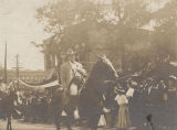 John Apperson, commander-in-chief of the United Sons of Confederate Veterans, in the parade at a...