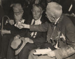 James W. Moore and two other former soldiers at one of the last reunions of Confederate veterans...