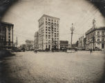 Court Square in downtown Montgomery, Alabama, looking toward Commerce and North Court Streets.