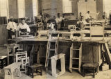 Cabinetmaking class at Tuskegee Institute in Tuskegee, Alabama.