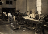 Class in the sheet metal division at Tuskegee Institute in Tuskegee, Alabama.