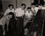 Students in a chemical engineering laboratory at Alabama Polytechnic Institute in Auburn, Alabama.