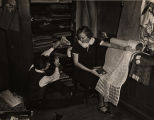 Students Paul Rudolph and Marie Hodges studying interior decoration at Alabama Polytechnic...