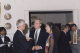Governor Don Siegelman and his wife, Lori, speaking with a man at the Governor's Mansion in...
