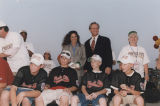 Governor Don Siegelman and his wife, Lori, at a rally honoring the Phenix City All-Stars, who won...