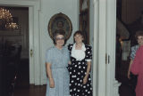 Helen Hunt standing with a woman during her class reunion at the Governor's Mansion in Montgomery,...