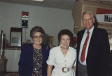 Governor Guy Hunt and his wife, Helen, with a woman in a convenience store in Dothan, Alabama.