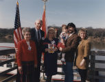 Governor Guy Hunt and his wife, Helen, with Edie Hand, Randy and Kelly Owen, and their young...