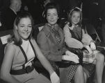 Rebecca, Martha, and Allison Brewer seated at the Capitol in Montgomery, Alabama, probably before...