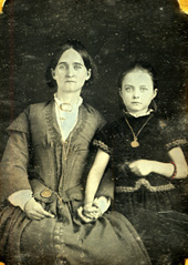 Mary Elizabeth Stairley Brockman McAuley and her daughter Tallulah James Brockman.