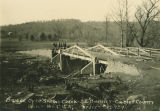 Construction of a bridge over Spring Creek in Colbert County, Alabama.
