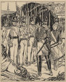 Drawing depicting the British capture of Fort Bowyer on Mobile Bay in 1815.