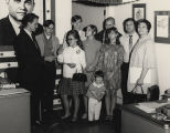 Group of George Wallace supporters in an office during the 1968 presidential campaign.