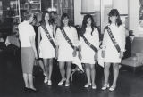 "Four girls wearing ""Wallace"" sashes during the 1968 presidential campaign."