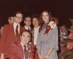 Sela Ward standing with Governor George Wallace during a homecoming event at the University of...