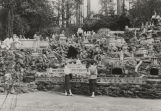 Women standing in the Italian miniatures section at the Ave Maria Grotto at St. Bernard College in...