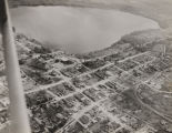 Aerial view of Lake Jackson and Florala, Alabama, looking south.