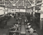 Women sewing at machines in the Goodyear rubber plant in Gadsden, Alabama, during World War II.