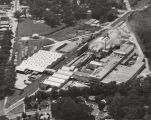 Aerial view of the Rubberoid Company in Mobile, Alabama.