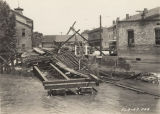Railroad trestle destroyed by a flood in downtown Prattville, Alabama.