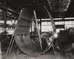 """A funnel above fidley top being pre-assembled at the Ingalls Iron Works Company, Birmingham,..."