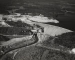 Aerial view of Lewis Smith Dam of the Alabama Power Company, on the Sipsey Fork of the Warrior...