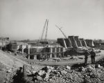 Construction of Logan Martin Dam of the Alabama Power Company, on the Coosa River.