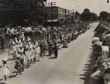 Children in the Strawberry Festival parade in downtown Cullman, Alabama.