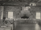 Dining room of a lodge at Monte Sano State Park in Madison County, Alabama.