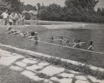 Rosemary Peters teaching a swimming class at the Marble Bowl Swimming Pool in Sylacauga, Alabama.