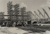 Construction of Garrett Coliseum in Montgomery, Alabama.