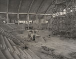 Interior of Garrett Coliseum in Montgomery, Alabama, during construction.