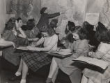 Students in a geography class at Alabama College in Montevallo, Alabama.