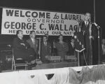 Governor George Wallace addressing an audience in Laurel, Mississippi.