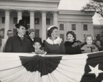 Governor George Wallace with his wife and three of their children, in front of the Capitol in...
