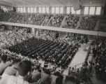 Graduation exercises in Foster Auditorium at the University of Alabama.