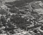 Aerial view of the campus of Auburn University.