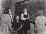 Students in a mathematics class at Alabama College in Montevallo, Alabama.