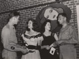 Students at a class dance at Alabama College in Montevallo, Alabama.