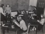 Students in a secretarial science class at Alabama College in Montevallo, Alabama.