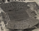Aerial view of the Ernest F. Ladd Memorial Stadium in Mobile, Alabama, during the football game...
